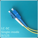 LC-Sc Upc Single-Mode Faser-Optiksteckschnür