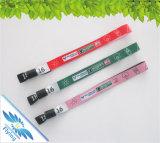 Braccialetti di promozione dei Wristbands del tessuto tessuti abitudine di alta qualità per gli eventi di festival di musica