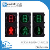 秒読みのタイマーと300mmの歩行者LEDの交通信号ライトヘッド緑のダイナミックな人