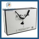 Sac de papier noir avec le logo estampé (DM-GPBB-020)