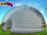 大きい透過キャンプの膨脹可能な泡LEDテント紫色の膨脹可能な党ドーム