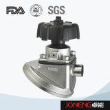 Tipo manual válvula de diafragma embridada (JN-DV1001) del acero inoxidable