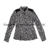 Frauen-Form-Kleid-Dame-Drucken-Hemd