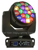 luz principal móvil de la etapa de 19PCS RGBW LED con el ojo grande de la abeja