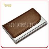 Qualität-Metall-PU-lederner Handelsname-Kartenhalter