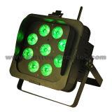 PARIDADE sem fio 9X12W RGBWA+UV 6 in-1 do diodo emissor de luz da bateria