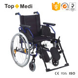 반대로 Tippers를 가진 Topmedi Medical Equipment 각자 Propelled Aluminum Wheelchair