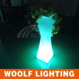 Plantador de iluminação de LED ao ar livre, plantador de incandescência de jardim, vaso de flores LED, iluminação exterior.