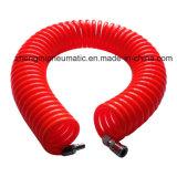 1/2 '' PU Tuyau enroulé; Tube de l'eau pour l'eau (noir de tuyau de bobine avec raccords mâles et femelles)