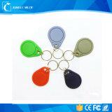 Anel chave colorido 125kHz RFID da proximidade sem contato do ABS