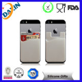 caixa de cartão do telefone do silicone do suporte de cartão do telefone móvel do silicone da etiqueta de 3m