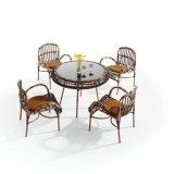 좋은 가격을%s 가진 형식 디자인 PE 등나무 가구 알루미늄 프레임 옥외 테이블