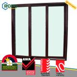 Ядровое изготовление раздвижной двери двойной застеклять доказательства UPVC/PVC пластичное