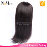 ブラジルのねじれたまっすぐな絹の基礎レースの前部毛のかつらのアフリカ系アメリカ人のための顧客用かつら100の人間の毛髪のかつら