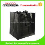 Bolso laminado PP no tejido del negro para los bolsos del embalaje de las compras