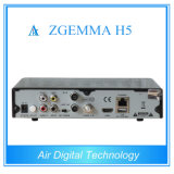 T2 futé de la boîte DVB S2 DVB DVB C avec l'appui Kodi Hevc/H. 265 Zgemma H5 d'IPTV