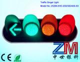 Ce & sinal do diodo emissor de luz da esfera cheia aprovada de RoHS/sinal de tráfego de piscamento com lente desobstruída