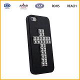 Caixa de couro material do telefone móvel do plutônio do plutônio Leather+Aluminum