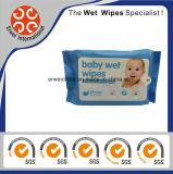 Material de Nonven nenhuns Wipes feitos sob encomenda do bebê da cópia do álcôol