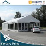 Tente modulaire de film publicitaire de mur en verre du commerce imperméable à l'eau de toit d'envergure de longue vie