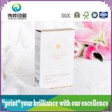 Caixa de empacotamento de papel do cuidado de pele da beleza com impressão