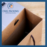 Kraft Brown Paper Bag con Green Printing (CMG-MAY-052)
