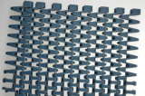Bündiges Rasterfeld Sideflex, das modulares Plastikförderband dreht