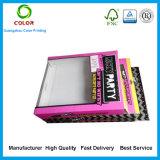 Коробка чулочные изделия бумаги печатание оптовых продаж упаковывая с ясным окном