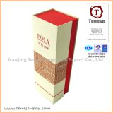 優雅なクラフト紙のワインの金が付いている包装のキャリアボックス