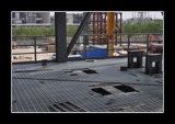 Kratzende Stahlbodenplatte