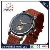 Kleines Vorwahlknopf-echtes Leder Triwa Uhr-Mann-Handgelenk-automatische Uhr