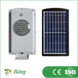 Réverbère solaire avec le détecteur de calage et d'être humain de PIR