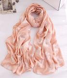 Sciarpa della molla del cotone stampata fiore di modo delle donne (YKY1137)
