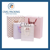Bolsas de papel de pila de discos impresas insignia de encargo de China pequeñas al por mayor (DM-GPBB-101)