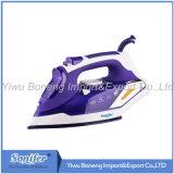陶磁器のSoleplateが付いている移動の蒸気鉄Sf-9002の電気鉄(紫色)