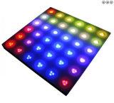 144 het LEIDENE van sterren Interactieve Licht van Dance Floor