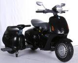 12V elektrische Rit op Motorfiets met Zijspan