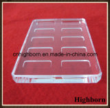 Feuille de glace de quartz transparent de grande pureté avec le fournisseur de cannelure