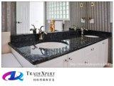 Голубая верхняя часть тщеты ванной комнаты кухни Countertops гранита перлы