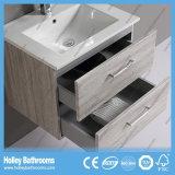 Moderno de madera de madera MDF baño negro con vanidad de almacenamiento (bf111m)