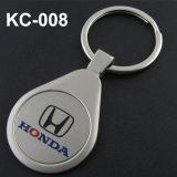 Cinc Keychain con insignia del laser del cliente