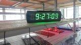 """3 de """" 6 LEIDENE van Cijfers Digitale Klok, het Groene Karakter van de Kleur, steunt de Regelmatige Functie van de Klok"""