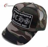 帽子のカスタムロゴのカムフラージュ5のパネルのトラック運転手の網の帽子
