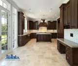 L形古典的なデザイン純木の食器棚