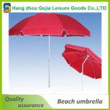 Kundenspezifischer Strand-Regenschirm mit Neigung u. ineinanderschieben Polen