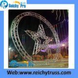 Треугольник, квадратная алюминиевая система ферменной конструкции земной поддержки празднества