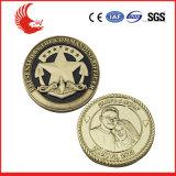 Moneda de encargo barata del recuerdo de Europa del laminado de la plata de monedas