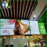 Restaurante que hace publicidad del rectángulo ligero delgado del marco de aluminio LED