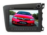 Quadrilátero Core Android 4.4.4 Car DVD Fit para a vídeo 2012 de Honda Civic GPS Navigation Radio Audio