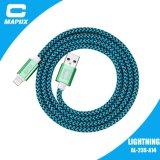 Силовой кабель USB молнии Apple верхней змейки сбываний Nylon Braided